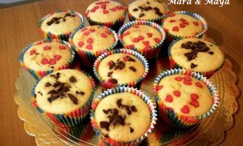 Muffin alla Vaniglia e Cioccolato Fondente