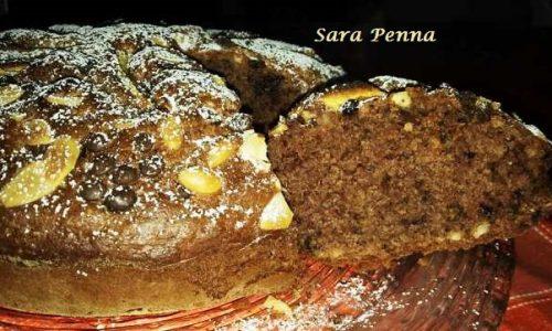 Torta al Cacao Noci Mandorle e Mele