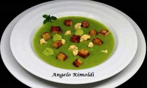 Vellutata di Broccolo Romano e Cavolfiore