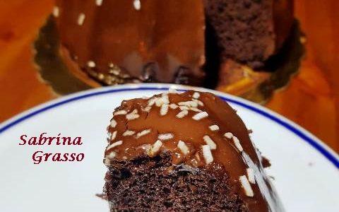 Ciambella all'Acqua con Glassa al Cioccolato