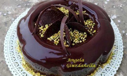 Torta Moderna Cioccolato Ricotta e Pistacchio